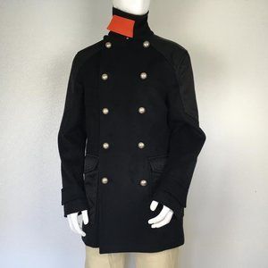 MCM Man Jacket Half Coat Balck Color Size 48 DM9